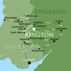kington location map